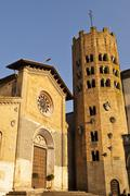 orvieto church and bell tower - stock photo