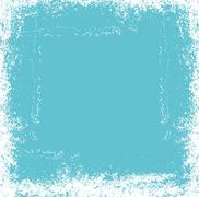 grunge brush frame vector art - stock illustration