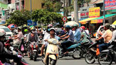 Road Traffic in Saigon (Ho Chi Minh City), Vietnam Stock Footage