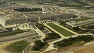 Stock Video Footage of Aerial Pentagon in Washington DC