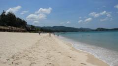 Beautiful Bang Tao Beach on Phuket island. Stock Footage