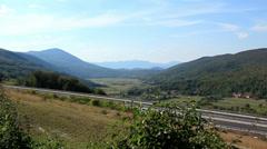 A1 Highway in Lika, Croatia 2 Stock Footage