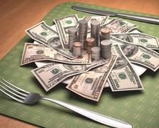 Stock Illustration of Hunger For Money
