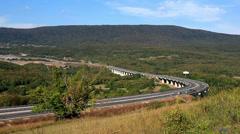 A1 Highway in Lika, Croatia 1 Stock Footage