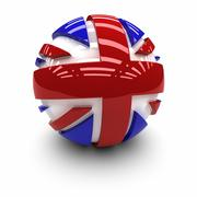 Flag of the united kingdom. Stock Illustration