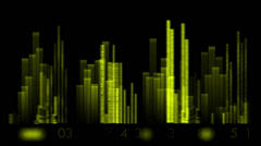 Video equalizer,music rhythm Volume,speakers waves spectrum,heart-rate. Stock Footage