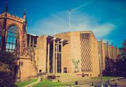 Stock Photo of retro look coventry cathedral