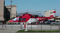 Emergency aircraft Life Flight Helicopter Hospital HD 9762 Stock Footage
