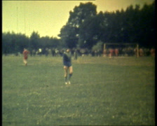 Soccer Game action and defense Stock Footage