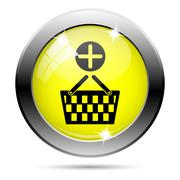 Stock Illustration of add to basket icon