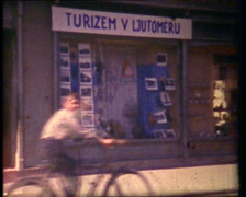 Old Bulletin Travel Board - stock footage