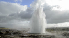 Stock Video Footage of Erupting Geyser