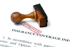 Insurance policy - approved Stock Photos