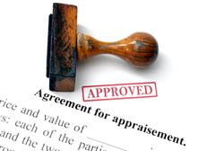 Agreement for appraisement Stock Photos