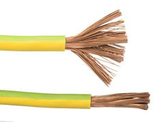 Stock Photo of exposed cables and wires