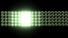 Smaller Flashing Light Wall With Bulbs Stock Footage