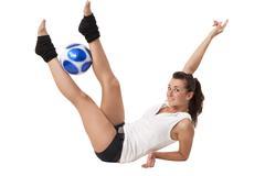 doing exercises - stock photo