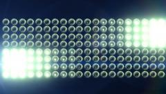Horizontal Flashing Floodlights With Lens Flare 2 Stock Footage