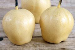 chinese ya pears - stock photo