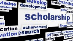 Scholarship conceptual hd animation Stock Footage