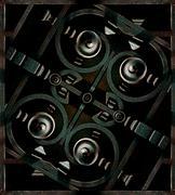 futuristic iron structrure - stock illustration