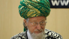 Talgat Tadzhuddin - chief Mufti of Russia Stock Footage