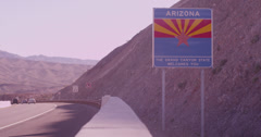 Arizona Grand Canyon Highway Sign Stock Footage