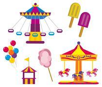 Amusement Park - stock illustration