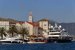 Trogir harbour, dalmatia, croatia, europe Stock Photos