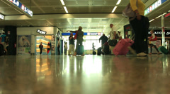 Busy Rome airport Stock Footage