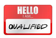 Stock Illustration of hello i am qualified tags. illustration design