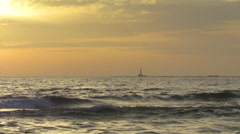Sunset over the sea Stock Footage