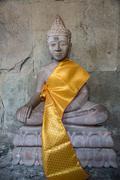 Buddha statue angkor wat. tradition, religion, culture. cambodia, asia. Stock Photos
