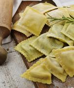 homemade ravioli assortment - stock photo