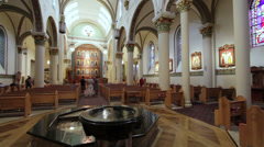 Inside the Cathedral Bascilica of Saint Francis of Assisi Stock Footage