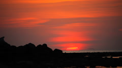 Sea beautiful sunset Stock Footage