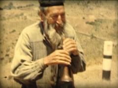 8MM GREECE traditional greek flautist 1961 Stock Footage