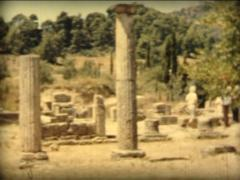8MM GREECE antic greek columns - 1961 - stock footage