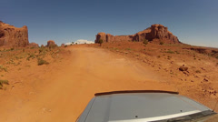 Driving around Monument Valley - Vehicle POV -  part 6 Stock Footage