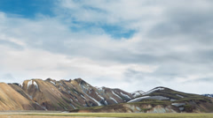Landmannalaugar, Iceland - stock footage