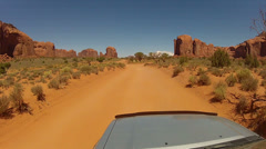 Driving around Monument Valley - Vehicle POV -  part 9 Stock Footage