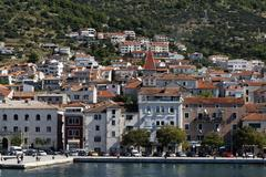 makarska harbour, croatia - stock photo