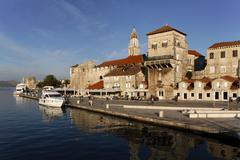 trogir at sunrise, unesco, dalmatia, croatia, europe - stock photo