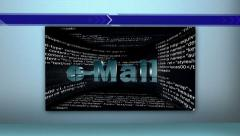 07 email room white Trans Stock Footage