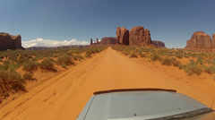 Driving around Monument Valley - Vehicle POV - part 17 - stock footage