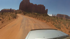 Driving around Monument Valley - Vehicle POV -  part 21 Stock Footage