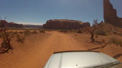 Driving around Monument Valley - Vehicle POV -  part 22 Stock Footage