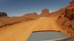 Driving around Monument Valley - Vehicle POV -  part 27 Stock Footage