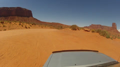Driving around Monument Valley - Vehicle POV -  part 30 Stock Footage