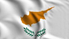 Cyprus Weave Textured Flag Loop Stock Footage